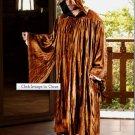 The Regency Hooded Robe Camel Brown Velvet Medieval Renaissance Ritual Ceremony Attire