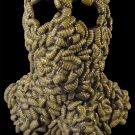 Swarming Maggots Eating Human Head Grubface Grub Feeding Frenzy Scary Gross Ugly Halloween Mask