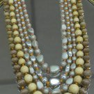 Japan Vintage 5 strand necklace plastic and wooden beads
