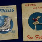 Vintage Shipstads and Johnson Ice Follies souvenir pins on original cards