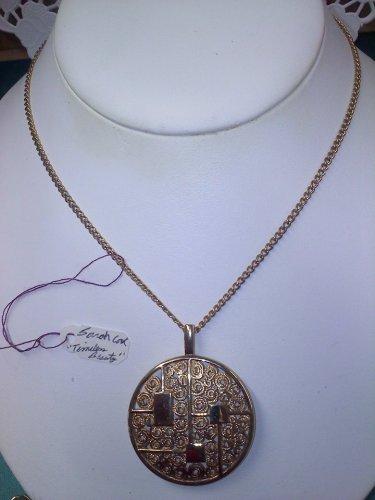 Sarah Coventry vintage necklace Timeless Beauty goldtone