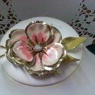 Pink 3 ways - aurora borealis rhinestone vintage pin brooch