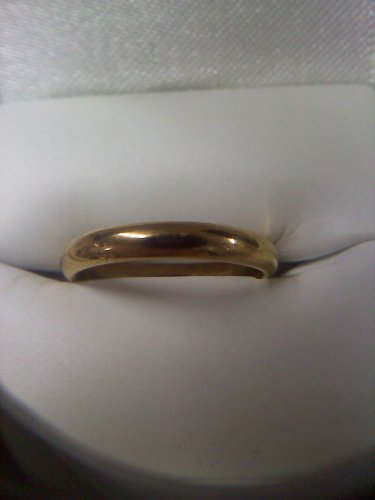 Vintage wedding band ring 18k gold plated in size 7