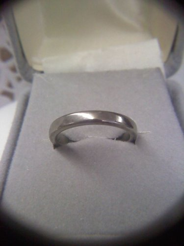 Jewelry store wedding band sample ring - vintage silvertone size 7