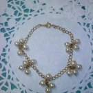 Pearl Dangle link chain bracelet in goldtone Vintage Avon