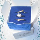 "AVON ""Solitaire Ring with Jacket Set"" size 7 goldtone CZ - no box"