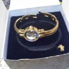 "Avon ""Birthstone Watch Simulated Sapphire - September"" in goldtone 1999 New in box"