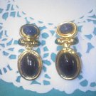 Faux scarab vintage clip earrings