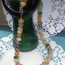 Vintage 16 inch pastel gumdrops or rock candy nuggets necklace