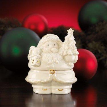 Lenox Santa Covered Box-Keepsake Box-Trinket Box