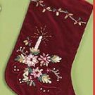 Red Velvet Christmas Stocking-Lined 14 inch Victorian Stocking