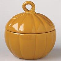Plymouth Pumpkin Bowl with Lid 24 oz. Cider by Pfaltzgraff