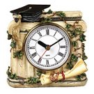 Timeless Memories Graduation Clock with Cap and Diploma