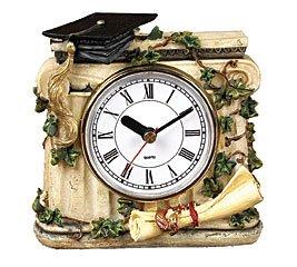 Timeless Memories Graduation Clock with Cap and Diploma