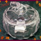 Crystal Covered Pumpkin Jar-Trick or Treat Pumpkin Dish-Lenox Gorham