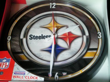 Pittsburgh Steelers Wall Clock, WinCraft made in the U.S.A.