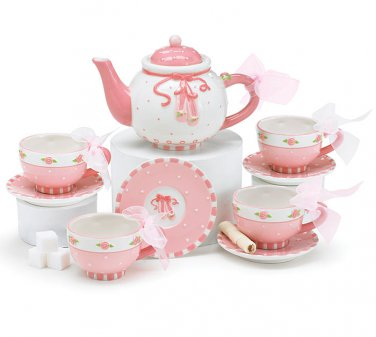 Ballet Shoes Child's Tea Set with Storage Gift Box