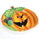 "Happy Haunting Jack-o-Lantern Halloween 7"" Plate-Pumpkin Plate"