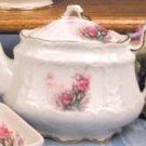 Porcelain Victorian 3 Cup Teapot-Iris-Fielder Keepsakes