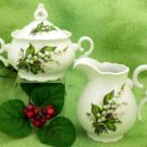 Lily of the Valley Porcelain Creamer & Sugar Bowl Set