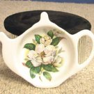 Magnolia Porcelain Teapot Tea Caddy by Fielder Keepsakes