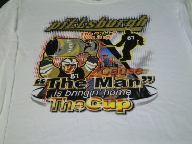 Pittsburgh Penguins T-Shirt, Size M, Bringin' Home the Cup, Crosby #87