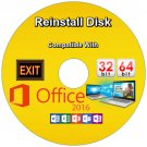 Reinstall Disk compatible with Office 2016 ReInstall Restore