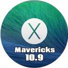macOS Mac OS X 10.9 Mavericks Bootable DVD Full Install Upgrade Restore