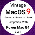 Vintage Mac OS 9 System Install Disc Recovery Upgrade Full Installer