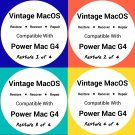 Vintage MacOS 4 Disc Set Restore For Power Mac G4 Install Disc Recovery Upgrade Full Installer