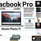 "Apple Macbook Pro A1286 15"" Core 2 Duo 2.53GHz 8GBs Ram 1000GB HDD - Grade B"
