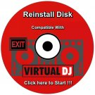 Reinstall Disk compatible with Virtual DJ Re Install Restore