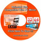 Migration Disk compatible with PC Mover Re Install Restore For Windows 7