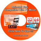 Migration Disk compatible with PC Mover Re Install Restore For Windows Vista