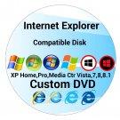 Internet Explorer DVD Disk compatible with Windows Xp/Vista/7/8 32/64Bit Systems