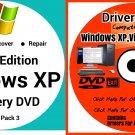 Windows Xp Home 32 bit & Driver Combo Reinstall Boot Restore DVD Disk