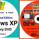 Windows Xp Pro 32 bit & Driver Combo Reinstall Boot Restore DVD Disk