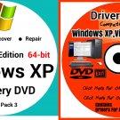 Windows Xp Pro 64 bit & Driver Combo Reinstall Boot Restore DVD Disk