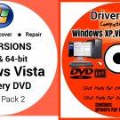 Windows Vista Ultimate 64 bit & Driver Combo Reinstall Boot Restore DVD Disk