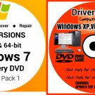 Windows 7 Home Basic 64 bit & Driver Combo Reinstall Boot Restore DVD Disk