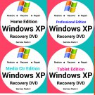 Windows Xp,Vista,7 32 Bit & 64 Bit Recovery Reinstall Boot Restore DVD Disc Disk