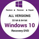 Windows 10 Home 32/64 Bit Recovery Reinstall Boot Restore DVD Disc Disk