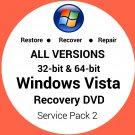 Windows Vista Business 32 & 64 Bit Recovery Reinstall Boot Restore DVD Disc Disk