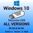 Windows 10 32bit & 64bit Versions USB Flash Drive