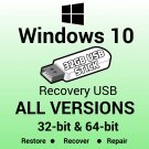 Windows 10 Pro 32 & 64Bit UEFI Reinstall Restore Repair USB