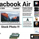 "Apple Macbook Air A1369 13"" Core i5 1.7GHz 4GBs Ram 120GB SSD Loaded - Grade A"