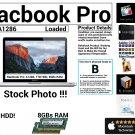 "Apple Macbook Pro A1286 15"" Core i7 2.4GHz 8GBs Ram 1000GB HDD Loaded - Grade B"