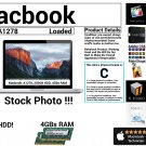 "Apple Macbook A1278 13"" Intel Core 2 Duo 2GHz 4GBs Ram 250GB HDD Grade C"