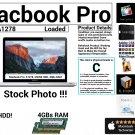 "Apple Macbook Pro A1278 13"" Intel Core 2 Duo 2.4GHz 4GBs Ram 250GB HDD Grade C"