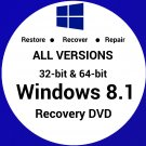 WINDOWS 8.1 PRO N 64 Bit Recovery Install Reinstall Boot Restore DVD Disc Disk